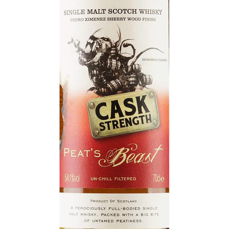 Peat's Beast Cask Strength Pedro Ximenez Sherry Single Malt