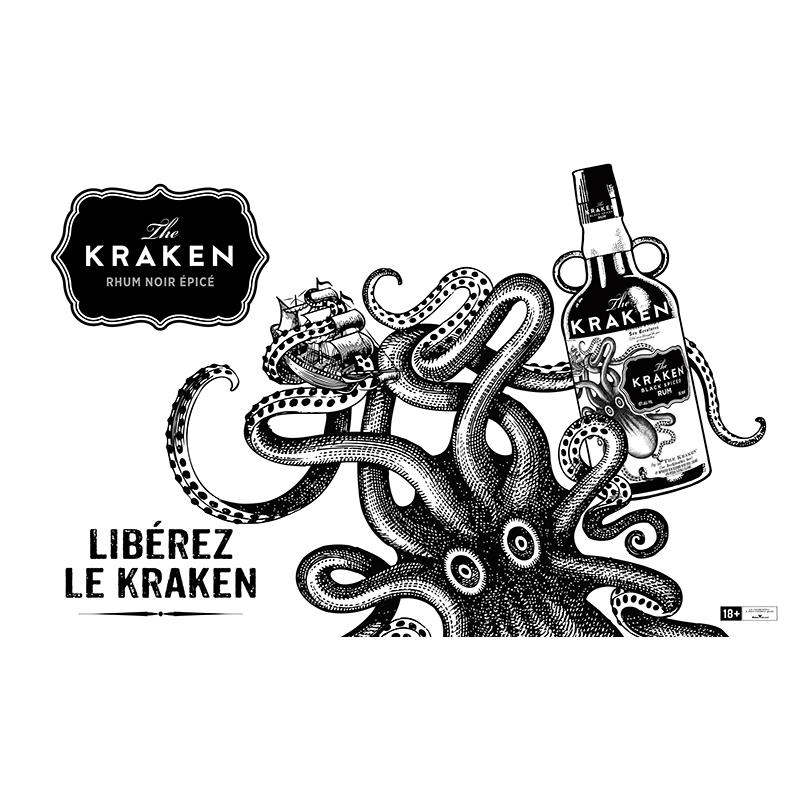 THE KRAKEN rhum ambré - black spiced rum - 70 cl 40°