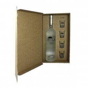 Pyla Excellium Vodka Coffret avec 4 shooters