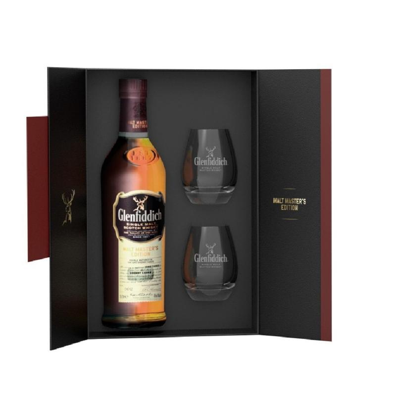 Coffret Glenfiddich Malt Masters avec 2 verres