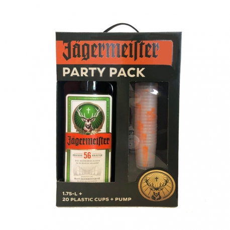"Jagermeister ""Party Box"" + 20 Plastic Cups"