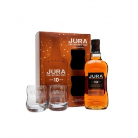 Whisky Isle of Jura 10ans Coffret et ses 2 verres Single Malt