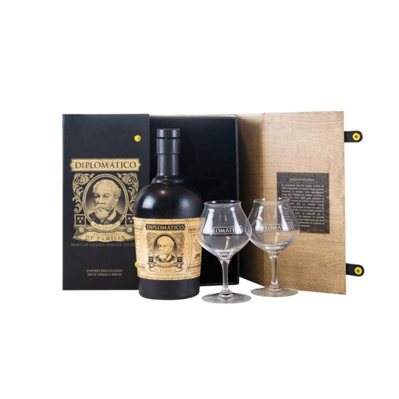 Coffret Diplomatico Seleccion de Familia + 2 verres
