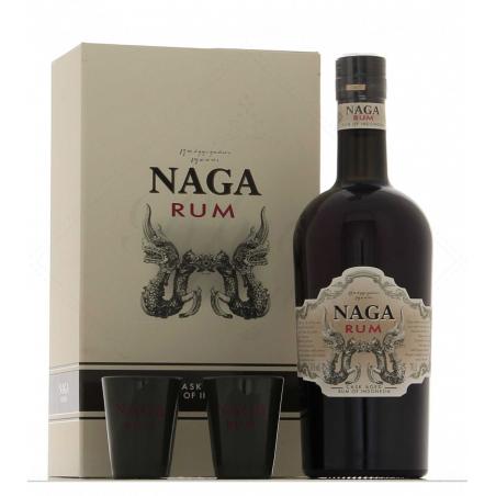 Naga rum coffret 2 verres