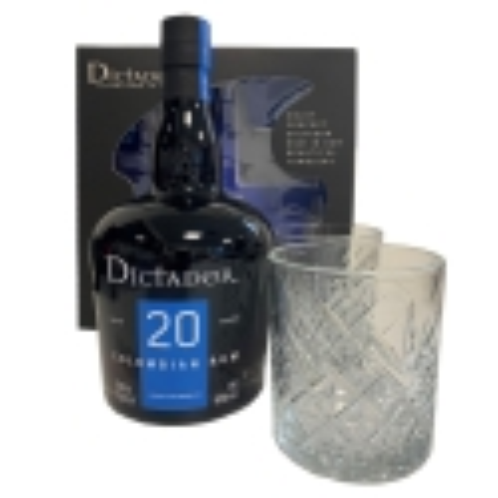 Coffret Dictador 20 ans + 2 verres